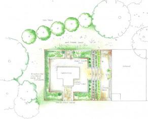 Pottager outline plan