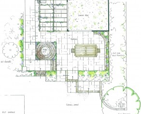 Terrace with Green Roof outline Plan